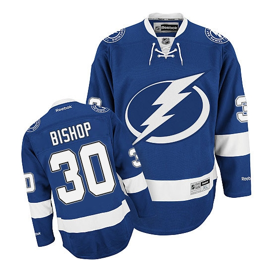 Ben Bishop Tampa Bay Lightning Premier Home Reebok Jersey - Blue