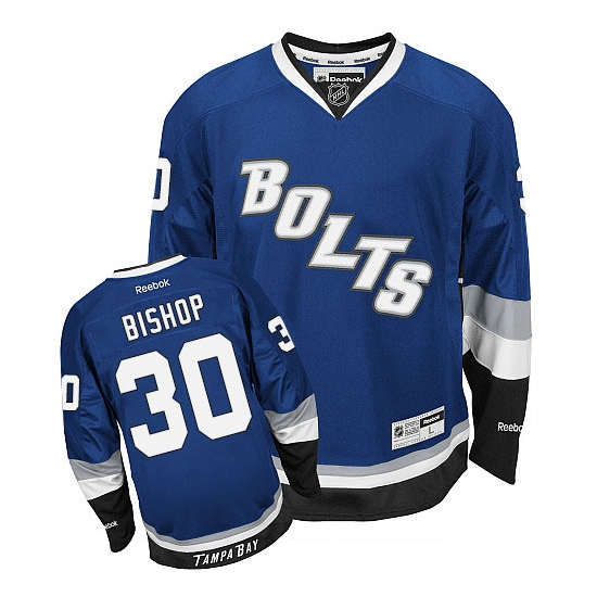 Ben Bishop Tampa Bay Lightning Premier Third Reebok Jersey - Blue