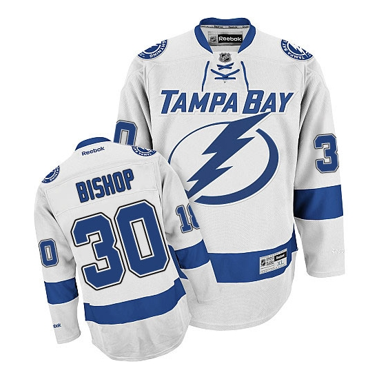 Ben Bishop Tampa Bay Lightning Premier Away Reebok Jersey - White