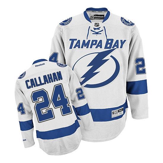 Ryan Callahan Tampa Bay Lightning Authentic Away Reebok Jersey - White