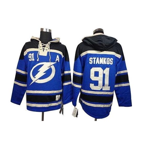 Steven Stamkos Tampa Bay Lightning Old Time Hockey Premier Sawyer Hooded Sweatshirt Jersey - Blue