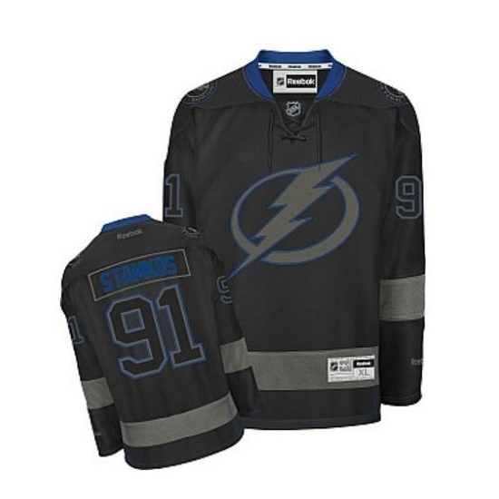 Steven Stamkos Tampa Bay Lightning Authentic Reebok Jersey - Black Ice