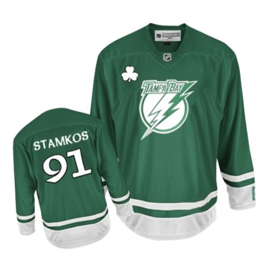 Steven Stamkos Tampa Bay Lightning Youth Authentic St Patty's Day Reebok Jersey - Green