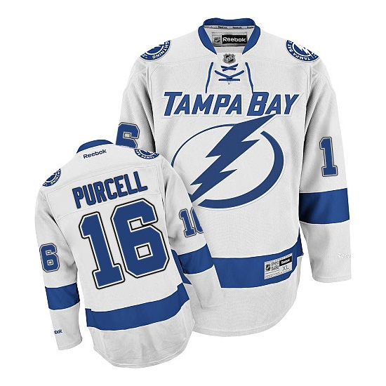 Teddy Purcell Tampa Bay Lightning Authentic Away Reebok Jersey - White