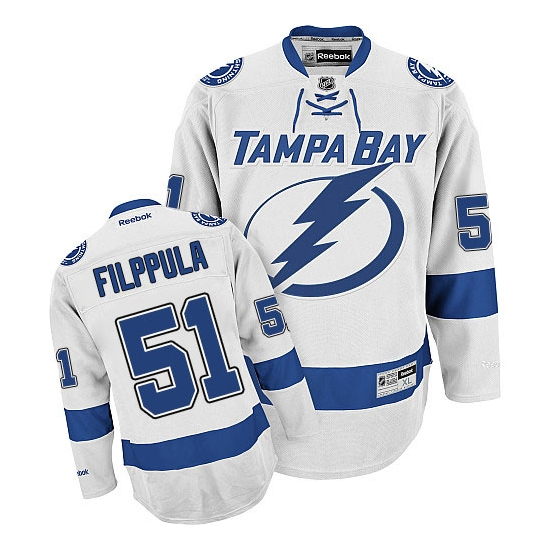 Valtteri Filppula Tampa Bay Lightning Authentic Away Reebok Jersey - White