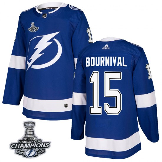 Michael Bournival Tampa Bay Lightning Youth Authentic Home 2020 Stanley Cup Champions Adidas Jersey - Blue