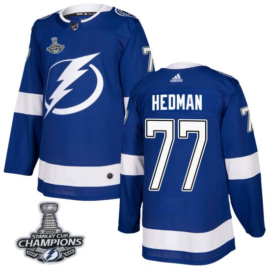 Victor Hedman Tampa Bay Lightning Youth Authentic Home 2020 Stanley Cup Champions Adidas Jersey - Blue
