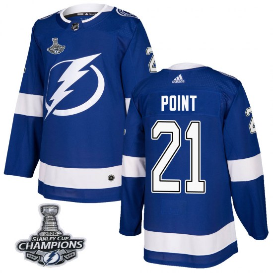 Brayden Point Tampa Bay Lightning Youth Authentic Home 2020 Stanley Cup Champions Adidas Jersey - Blue