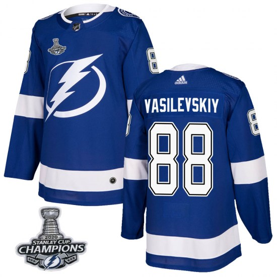 Andrei Vasilevskiy Tampa Bay Lightning Youth Authentic Home 2020 Stanley Cup Champions Adidas Jersey - Blue