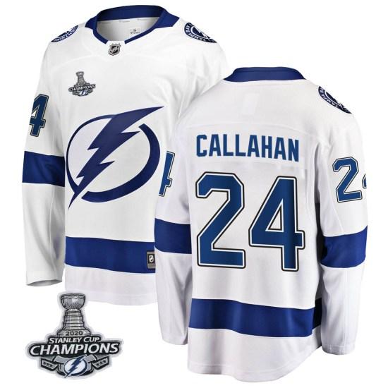 Ryan Callahan Tampa Bay Lightning Youth Breakaway Away 2020 Stanley Cup Champions Fanatics Branded Jersey - White