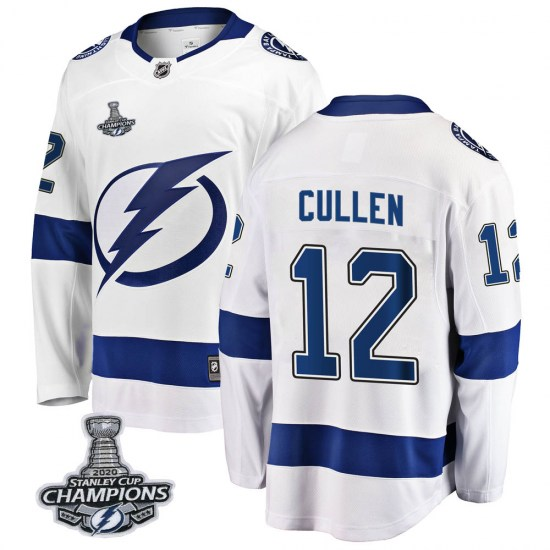 John Cullen Tampa Bay Lightning Youth Breakaway Away 2020 Stanley Cup Champions Fanatics Branded Jersey - White