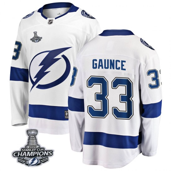 Cameron Gaunce Tampa Bay Lightning Youth Breakaway Away 2020 Stanley Cup Champions Fanatics Branded Jersey - White