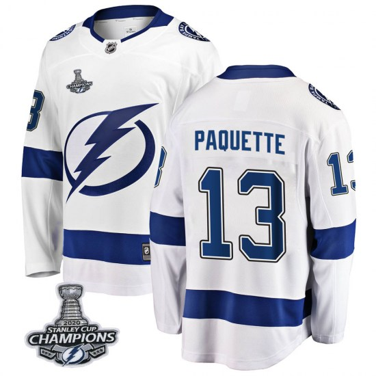 Cedric Paquette Tampa Bay Lightning Youth Breakaway Away 2020 Stanley Cup Champions Fanatics Branded Jersey - White