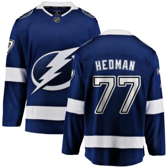 Victor Hedman Tampa Bay Lightning Youth Breakaway Home Fanatics Branded Jersey - Blue