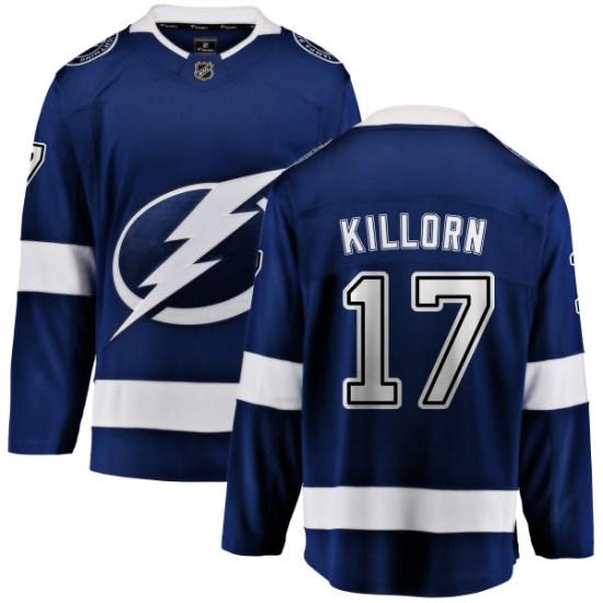 Alex Killorn Tampa Bay Lightning Youth Breakaway Home Fanatics Branded Jersey - Blue