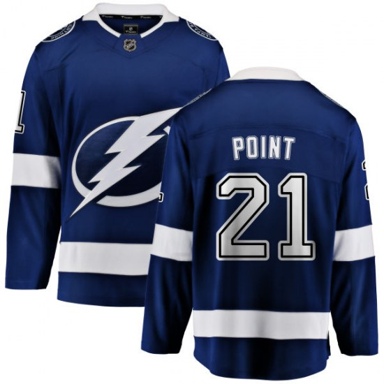 Brayden Point Tampa Bay Lightning Youth Breakaway Home Fanatics Branded Jersey - Blue