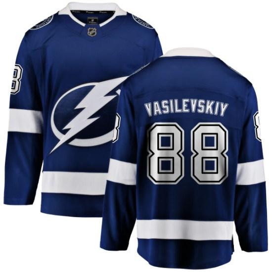Andrei Vasilevskiy Tampa Bay Lightning Youth Breakaway Home Fanatics Branded Jersey - Blue