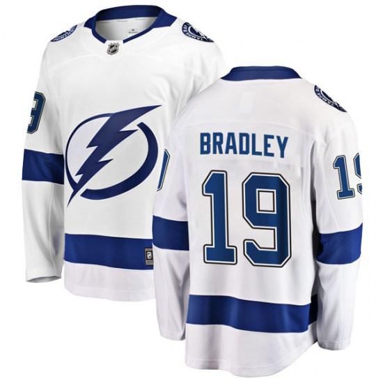 Brian Bradley Tampa Bay Lightning Breakaway Away Fanatics Branded Jersey - White