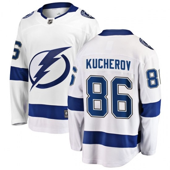 Nikita Kucherov Tampa Bay Lightning Breakaway Away Fanatics Branded Jersey - White