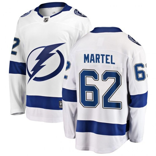 Danick Martel Tampa Bay Lightning Breakaway Away Fanatics Branded Jersey - White