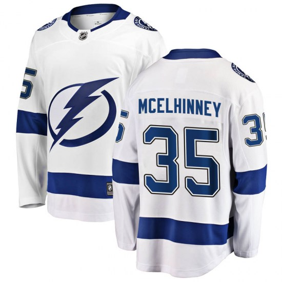 Curtis McElhinney Tampa Bay Lightning Breakaway Away Fanatics Branded Jersey - White