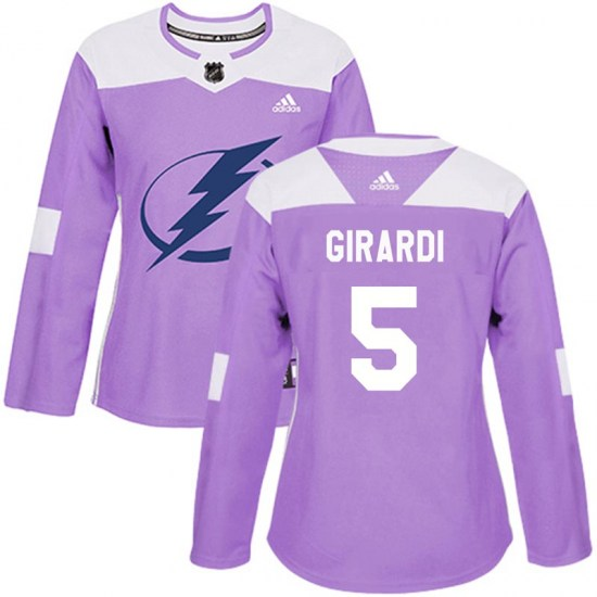 Dan Girardi Tampa Bay Lightning Women's Authentic Fights Cancer Practice Adidas Jersey - Purple
