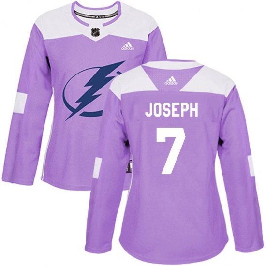 Mathieu Joseph Tampa Bay Lightning Women's Authentic Fights Cancer Practice Adidas Jersey - Purple