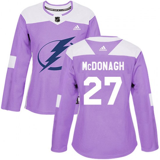 Ryan McDonagh Tampa Bay Lightning Women's Authentic Fights Cancer Practice Adidas Jersey - Purple