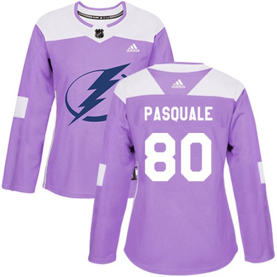 Eddie Pasquale Tampa Bay Lightning Women's Authentic Fights Cancer Practice Adidas Jersey - Purple