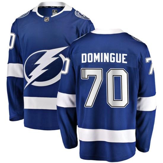 Louis Domingue Tampa Bay Lightning Breakaway Home Fanatics Branded Jersey - Blue
