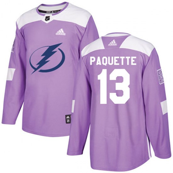Cedric Paquette Tampa Bay Lightning Authentic Fights Cancer Practice Adidas Jersey - Purple