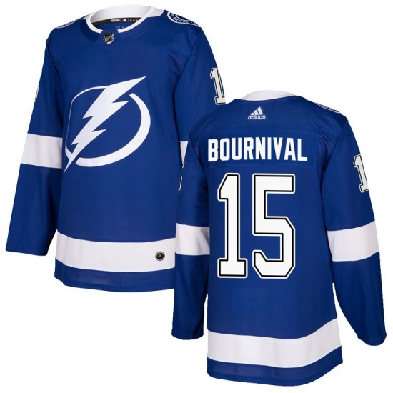 Michael Bournival Tampa Bay Lightning Authentic Home Adidas Jersey - Blue
