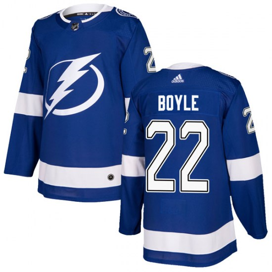 Dan Boyle Tampa Bay Lightning Authentic Home Adidas Jersey - Blue