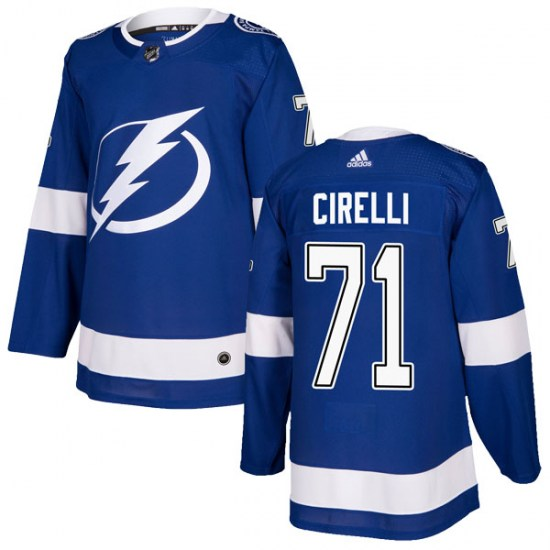 Anthony Cirelli Tampa Bay Lightning Authentic Home Adidas Jersey - Blue