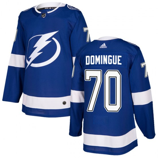 Louis Domingue Tampa Bay Lightning Authentic Home Adidas Jersey - Blue