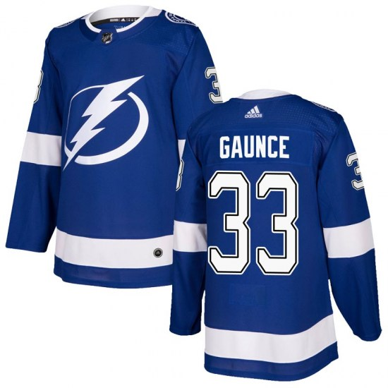 Cameron Gaunce Tampa Bay Lightning Authentic Home Adidas Jersey - Blue