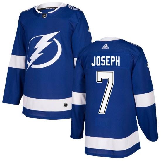 Mathieu Joseph Tampa Bay Lightning Authentic Home Adidas Jersey - Blue