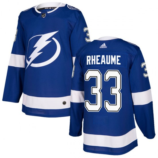 Manon Rheaume Tampa Bay Lightning Authentic Home Adidas Jersey - Blue