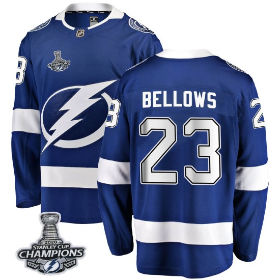 Brian Bellows Tampa Bay Lightning Youth Breakaway Home 2020 Stanley Cup Champions Fanatics Branded Jersey - Blue