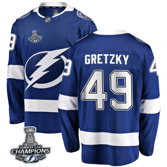 Brent Gretzky Tampa Bay Lightning Youth Breakaway Home 2020 Stanley Cup Champions Fanatics Branded Jersey - Blue