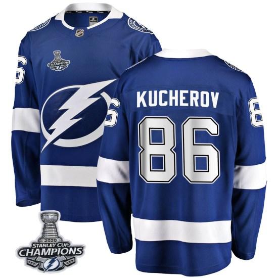 Nikita Kucherov Tampa Bay Lightning Youth Breakaway Home 2020 Stanley Cup Champions Fanatics Branded Jersey - Blue