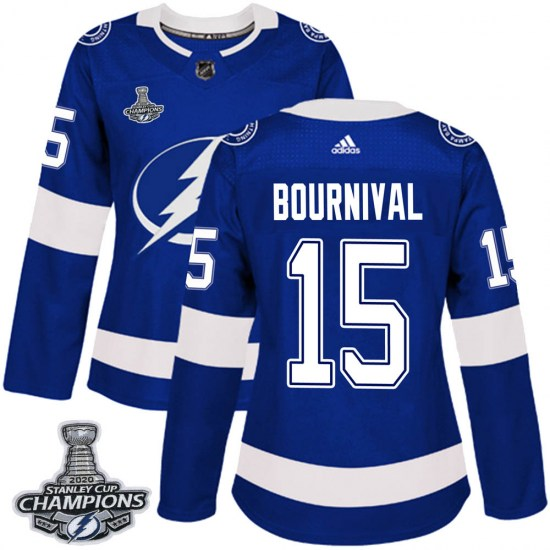 Michael Bournival Tampa Bay Lightning Women's Authentic Home 2020 Stanley Cup Champions Adidas Jersey - Blue