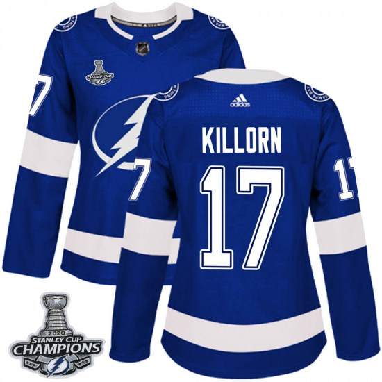 Alex Killorn Tampa Bay Lightning Women's Authentic Home 2020 Stanley Cup Champions Adidas Jersey - Blue