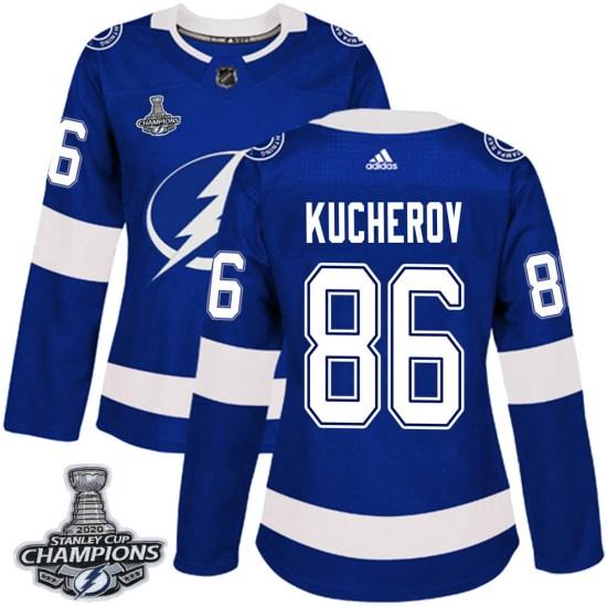 Nikita Kucherov Tampa Bay Lightning Women's Authentic Home 2020 Stanley Cup Champions Adidas Jersey - Blue