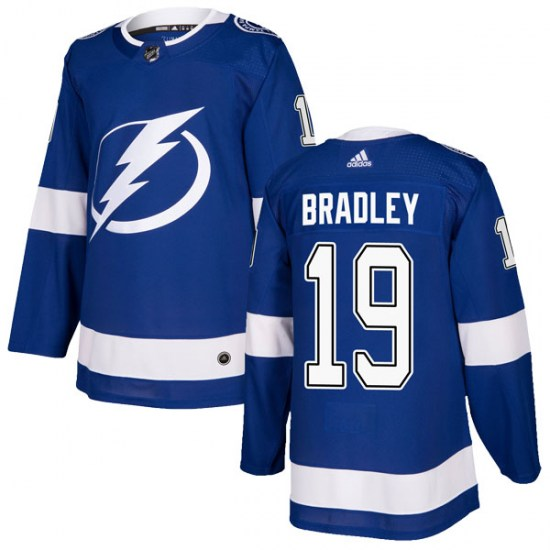 Brian Bradley Tampa Bay Lightning Youth Authentic Home Adidas Jersey - Blue