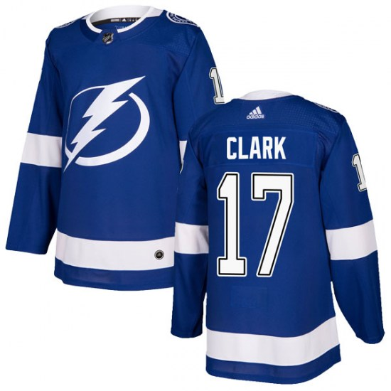 Wendel Clark Tampa Bay Lightning Youth Authentic Home Adidas Jersey - Blue