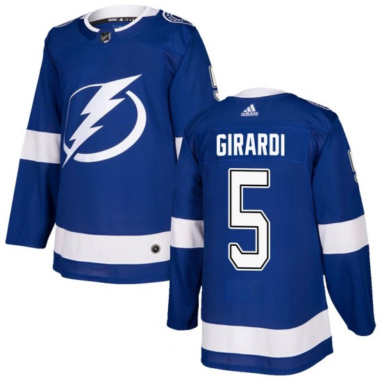 Dan Girardi Tampa Bay Lightning Youth Authentic Home Adidas Jersey - Blue