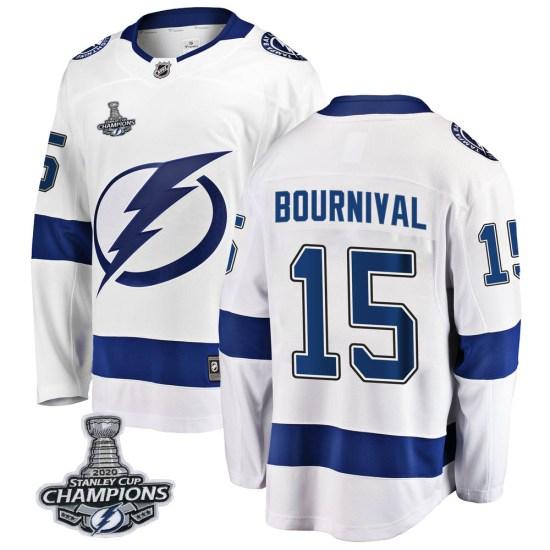 Michael Bournival Tampa Bay Lightning Breakaway Away 2020 Stanley Cup Champions Fanatics Branded Jersey - White