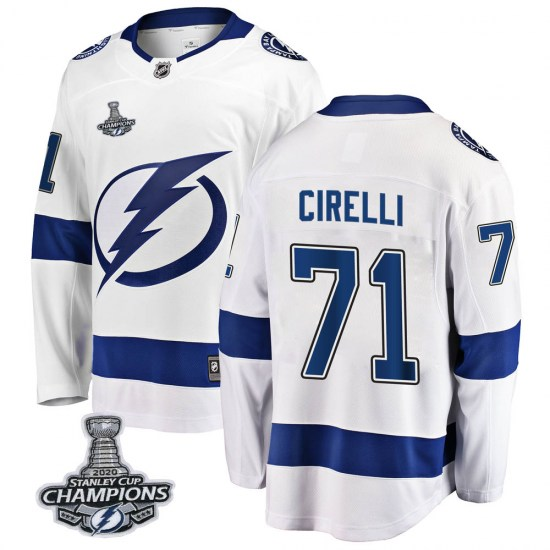 Anthony Cirelli Tampa Bay Lightning Breakaway Away 2020 Stanley Cup Champions Fanatics Branded Jersey - White
