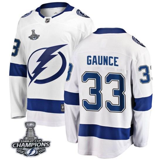 Cameron Gaunce Tampa Bay Lightning Breakaway Away 2020 Stanley Cup Champions Fanatics Branded Jersey - White